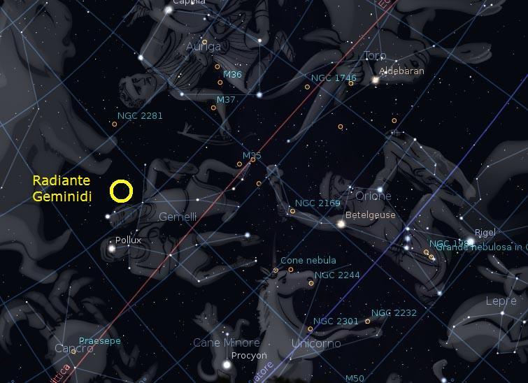 foto Osservazione dello sciame meteorico delle Geminidi
