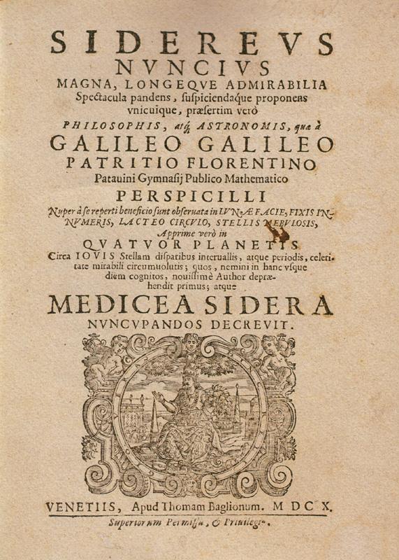 foto Sidereus Nuncius di Galileo Galilei (1610)