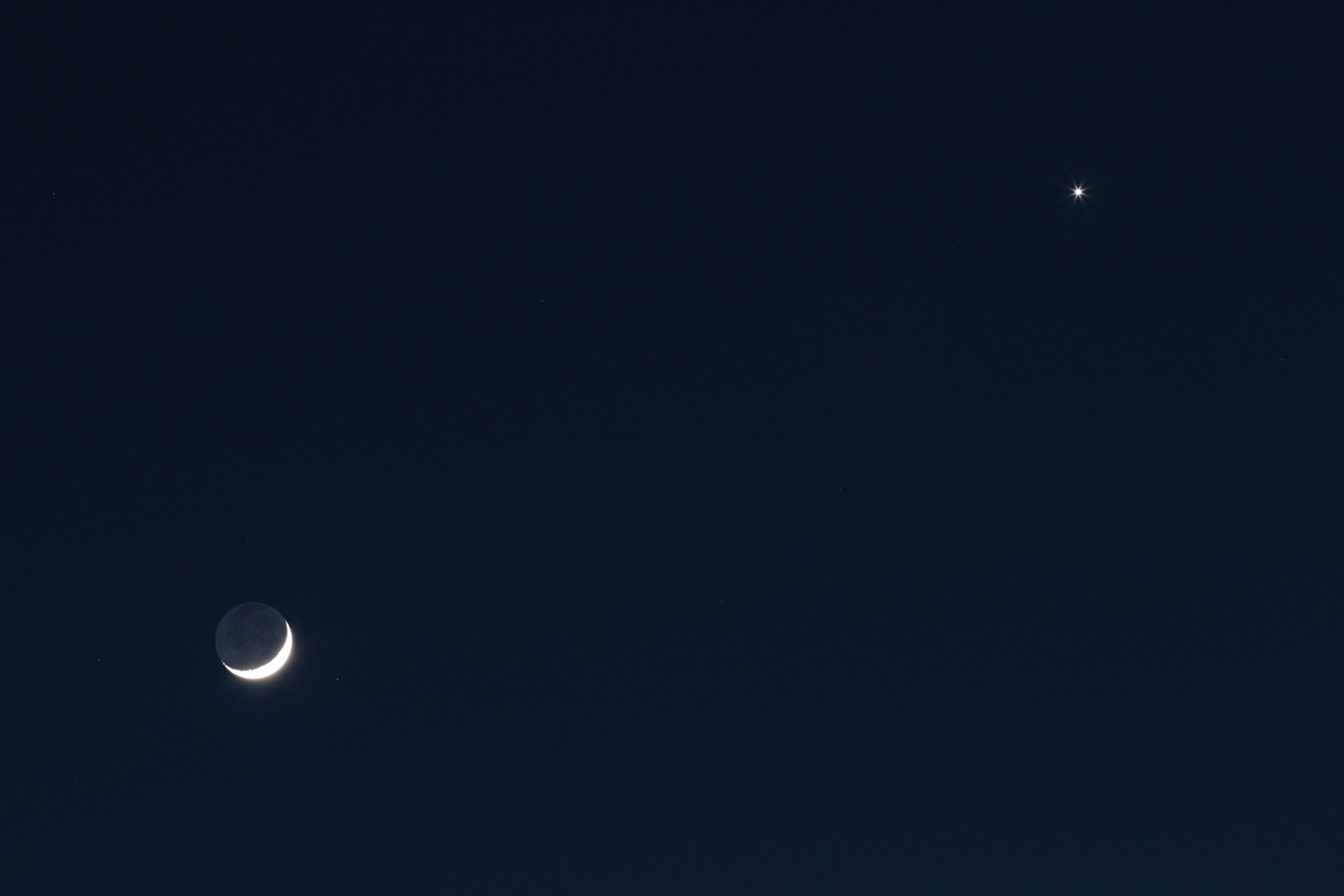 foto Luna - Venere 26/04/2020