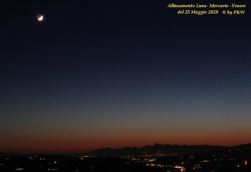 foto Allineamento Luna, Mercurio e Venere